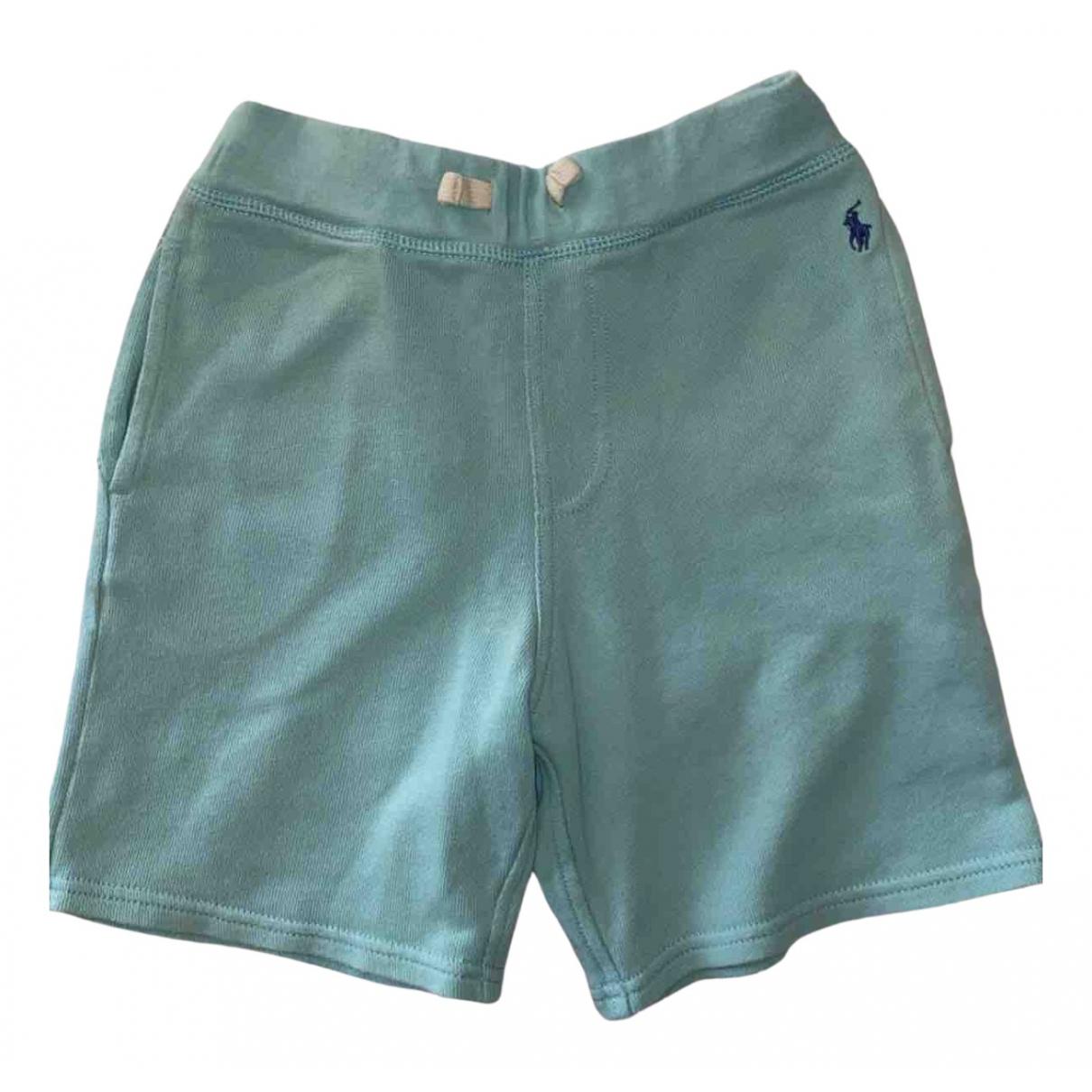 Polo Ralph Lauren - Short   pour enfant en coton - turquoise