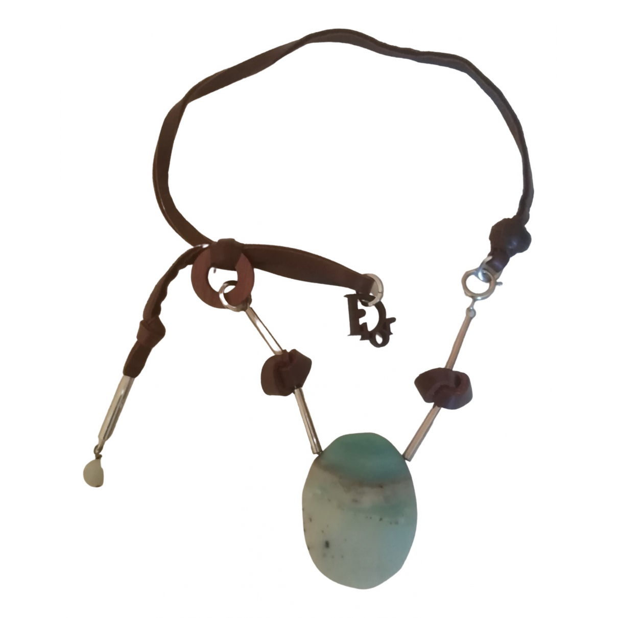 Christian Dior \N Brown Leather necklace for Women \N