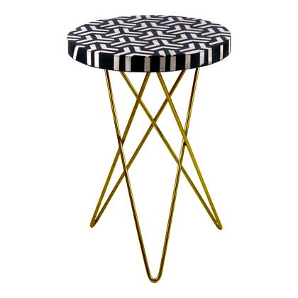 Sparro Collection PJ-1013-37 Accent Table with Stainless Steel base in Multicolor