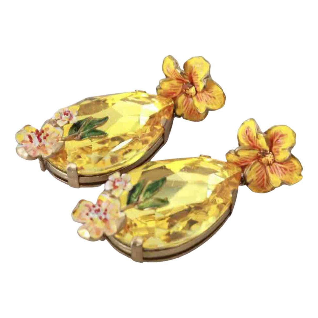 Dolce & Gabbana - Boucles doreilles   pour femme en verre - jaune