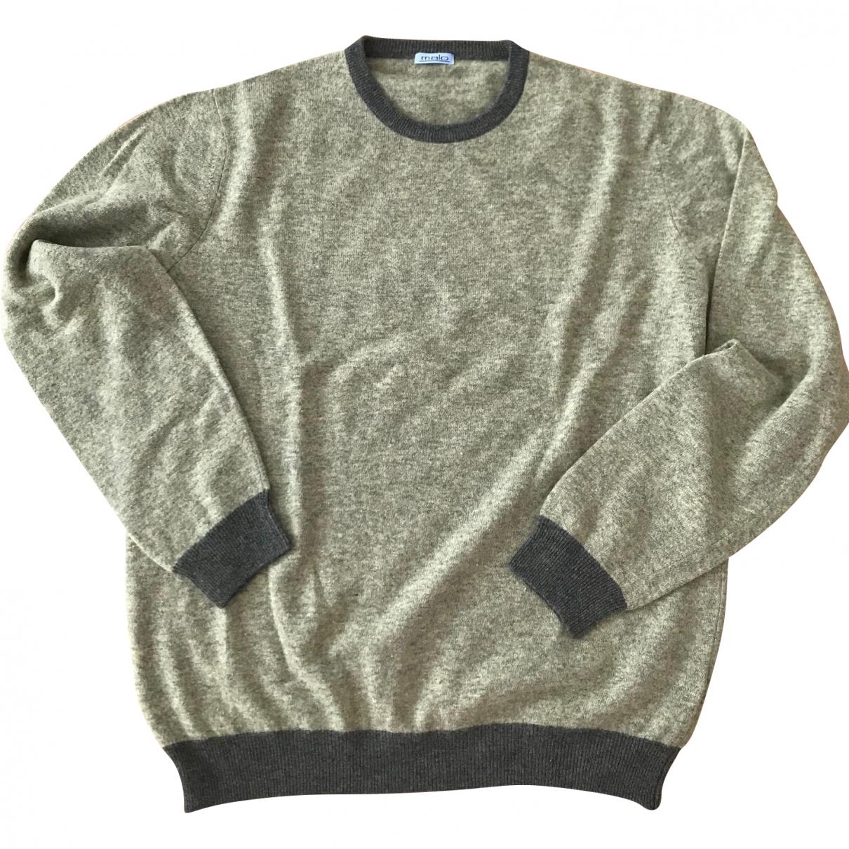 Malo \N Pullover.Westen.Sweatshirts  in  Gruen Wolle