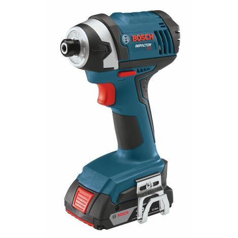 Bosch 18 V 1/4 In. Hex Compact Tough Impact Driver with 2 SlimPack Batteries