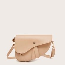 Snap Button Saddle Bag