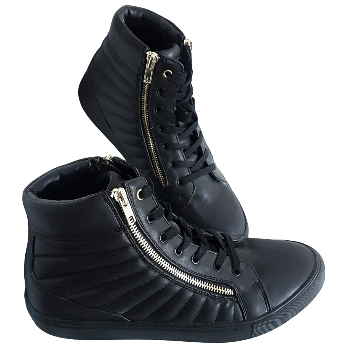 Steve Madden \N Sneakers in  Schwarz Leder