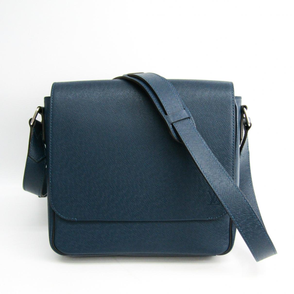 Louis Vuitton \N Navy Cloth bag for Men \N