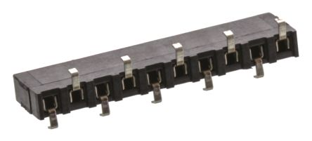 TE Connectivity , AMPMODU HV100 2.54mm Pitch 10 Way 1 Row Straight PCB Socket, Surface Mount, Solder Termination (10)