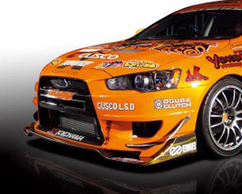 M Sport Front Bumper w/ Carbon Under Spoiler Mitsubishi Lancer Evolution X 08-12