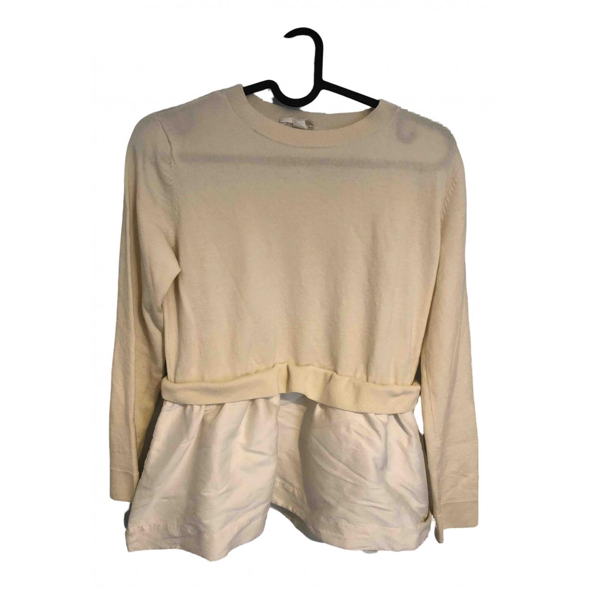 Cos N Beige Wool Knitwear for Women 38 FR