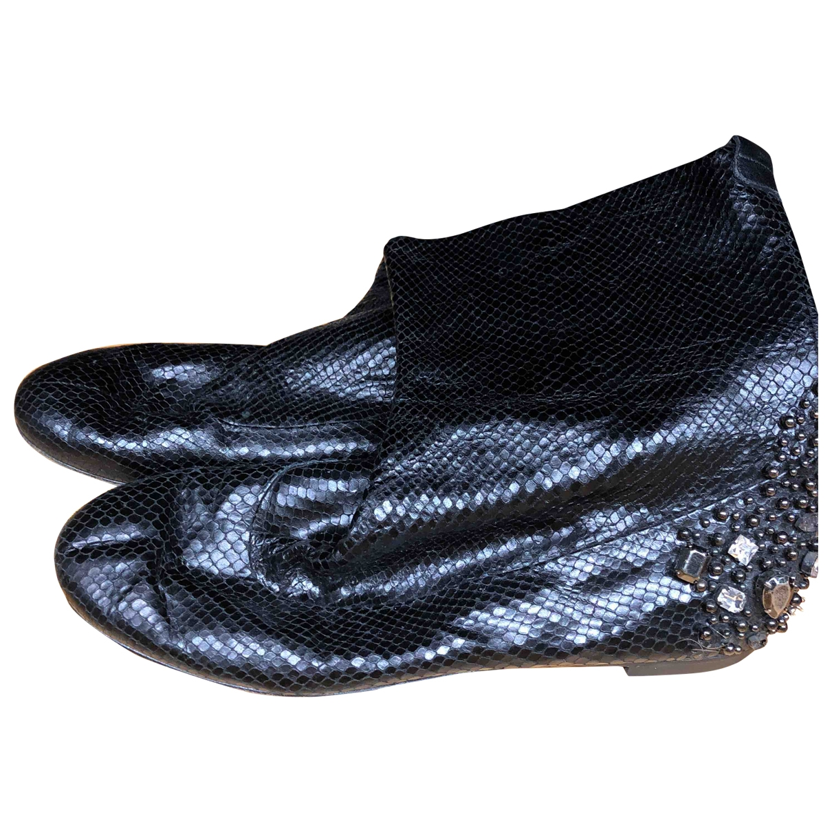 Giuseppe Zanotti \N Black Leather Ankle boots for Women 41 EU