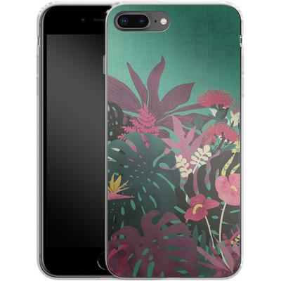 Apple iPhone 8 Plus Silikon Handyhuelle - Tropical Tendencies von Little Clyde