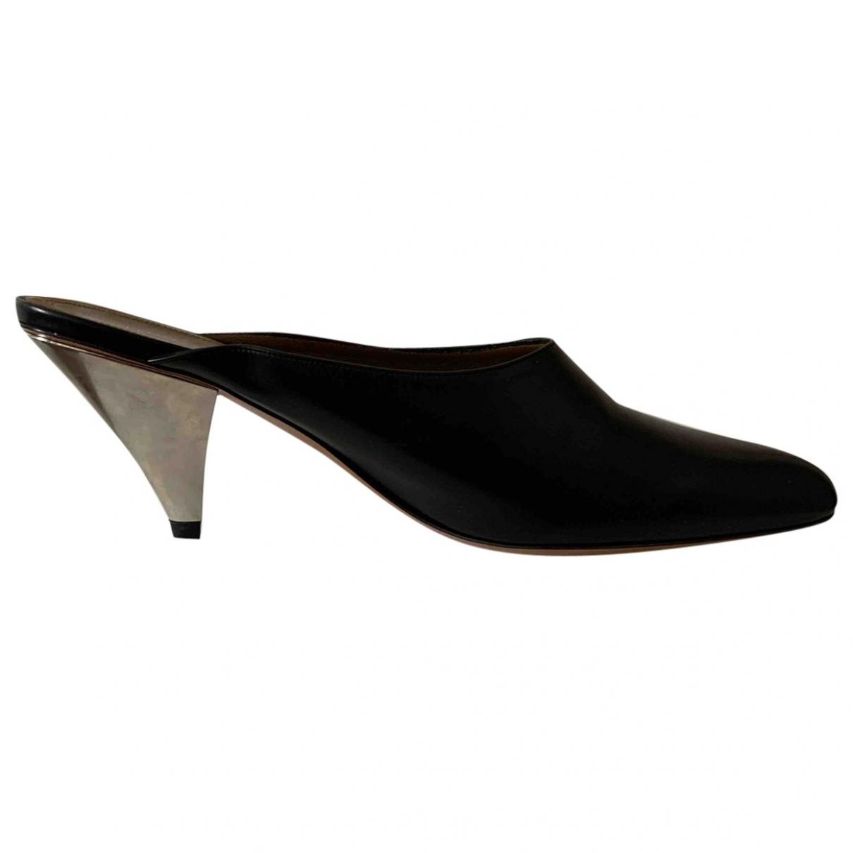 Celine - Sabots   pour femme en cuir - noir