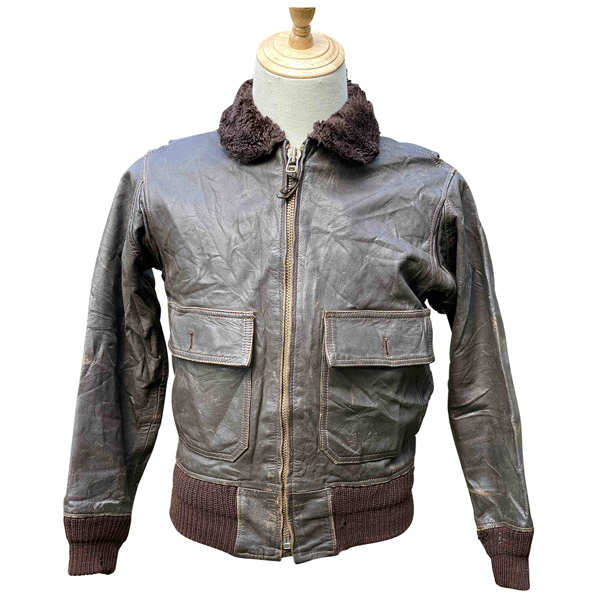 Non Signé / Unsigned \N Brown Leather jacket  for Men M International