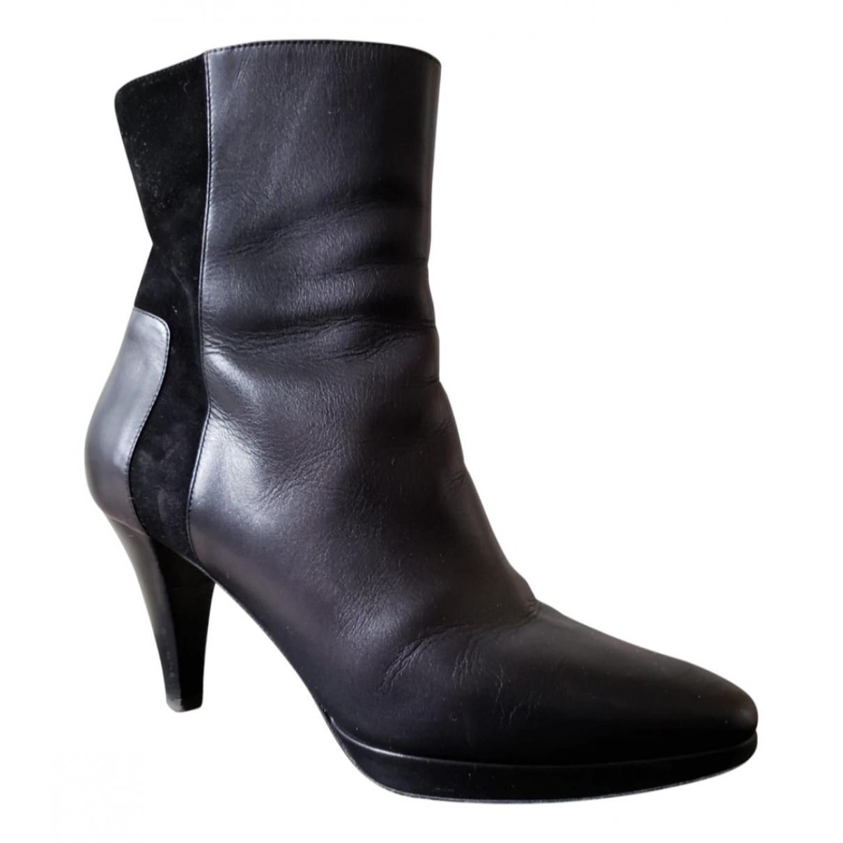 Bally - Boots   pour femme en cuir - noir