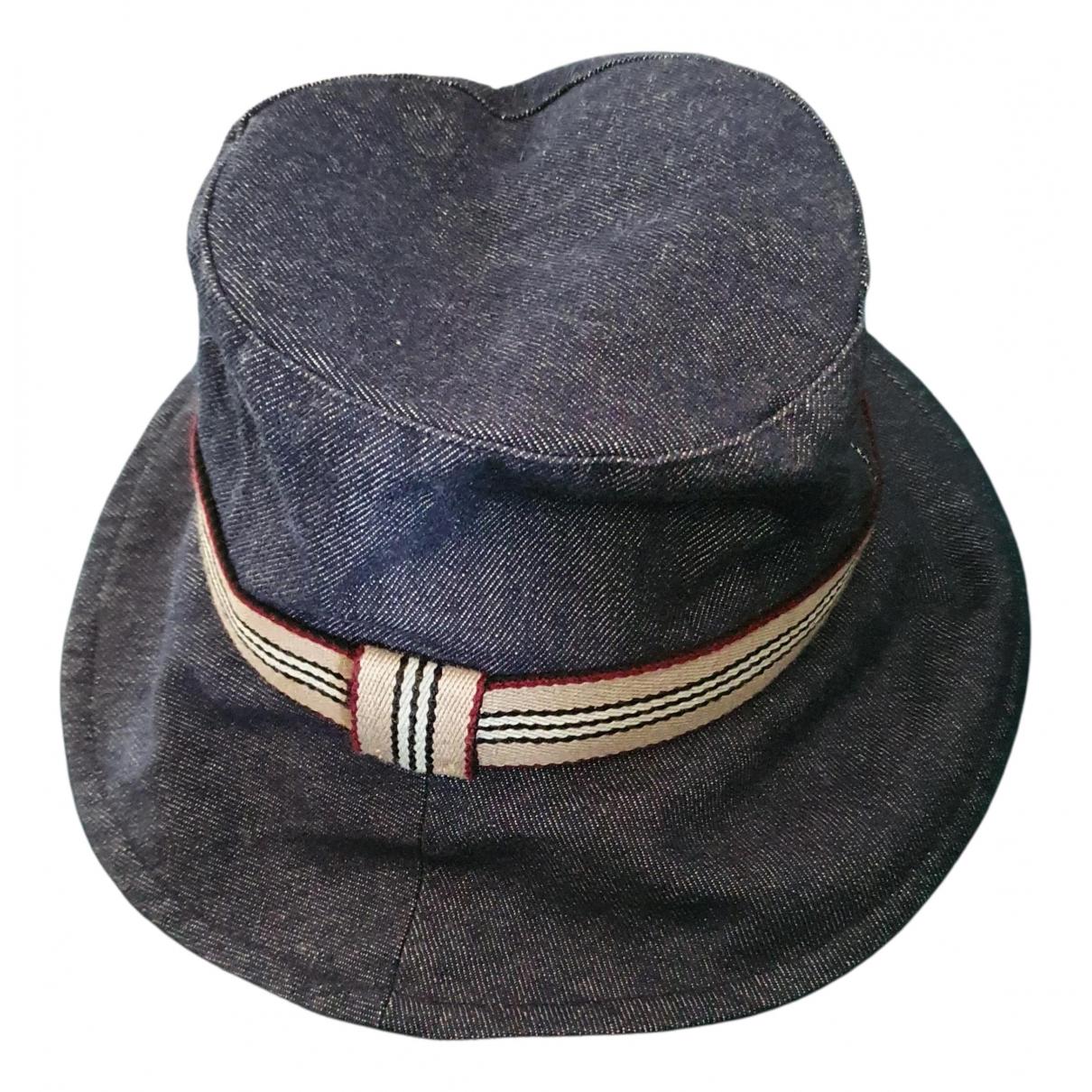 Burberry - Chapeau   pour femme en coton - bleu