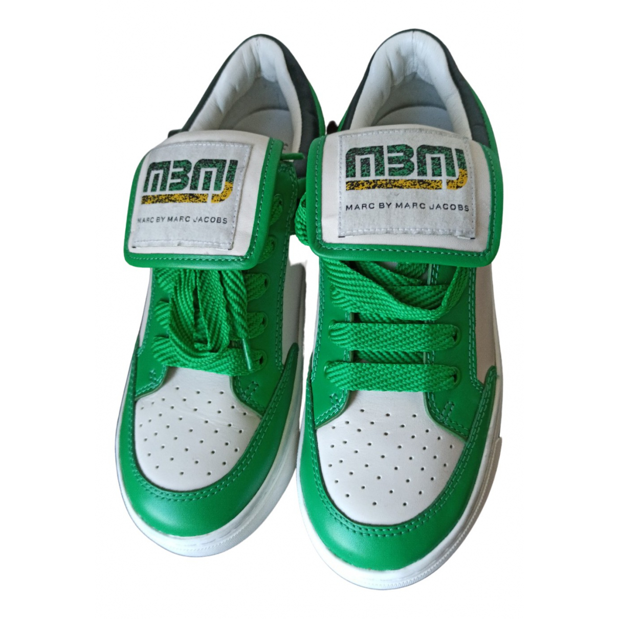 Marc By Marc Jacobs N Green Leather Trainers for Women 35 EU
