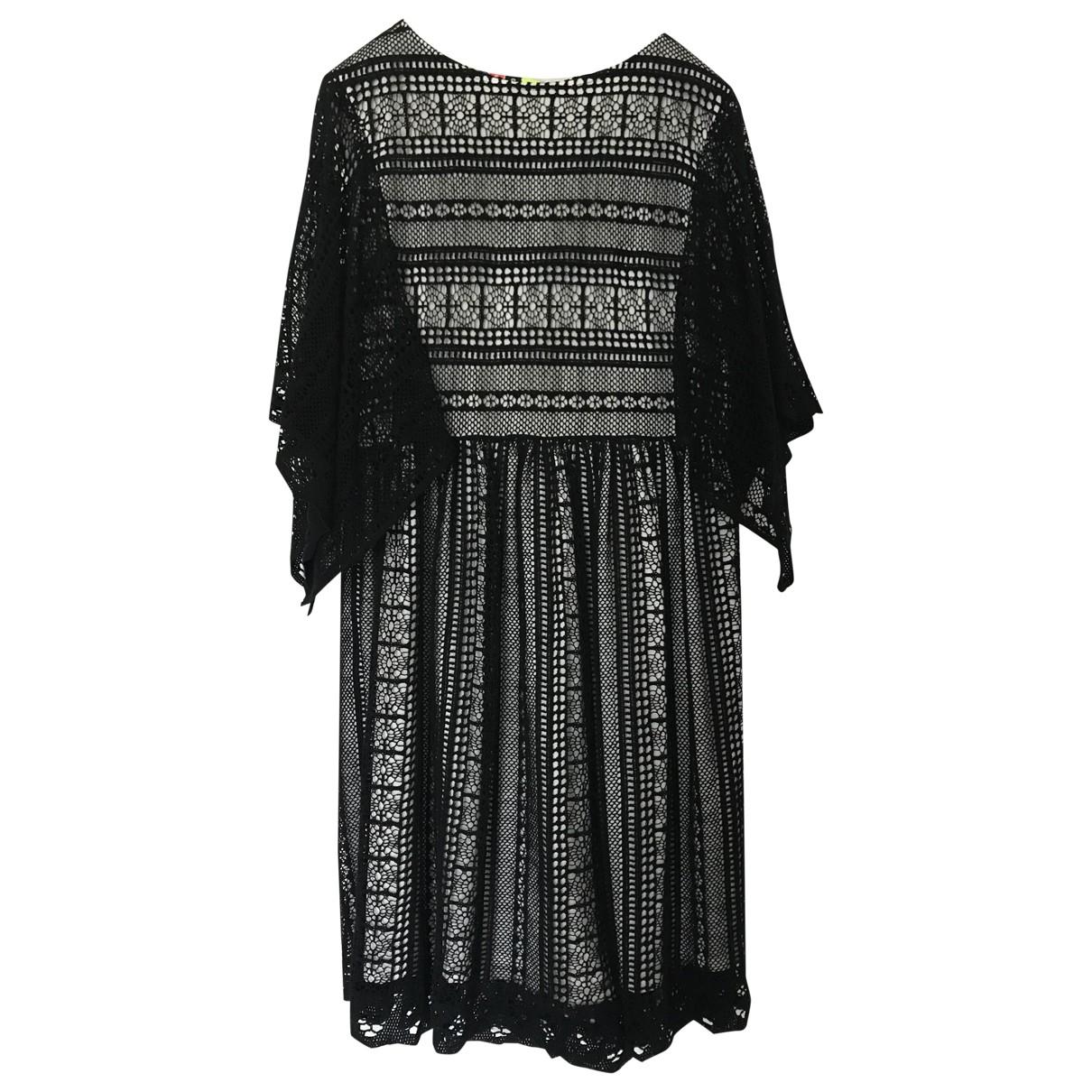 Msgm \N Black Cotton dress for Women 44 IT
