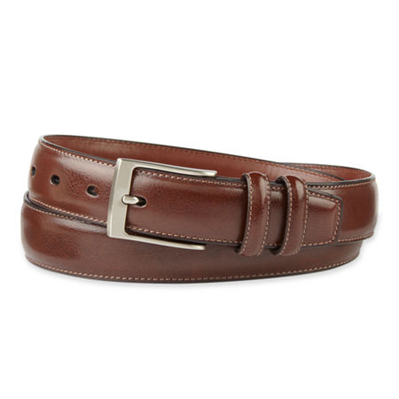 Stafford Double Leather Keeper Belt, 44 , Brown