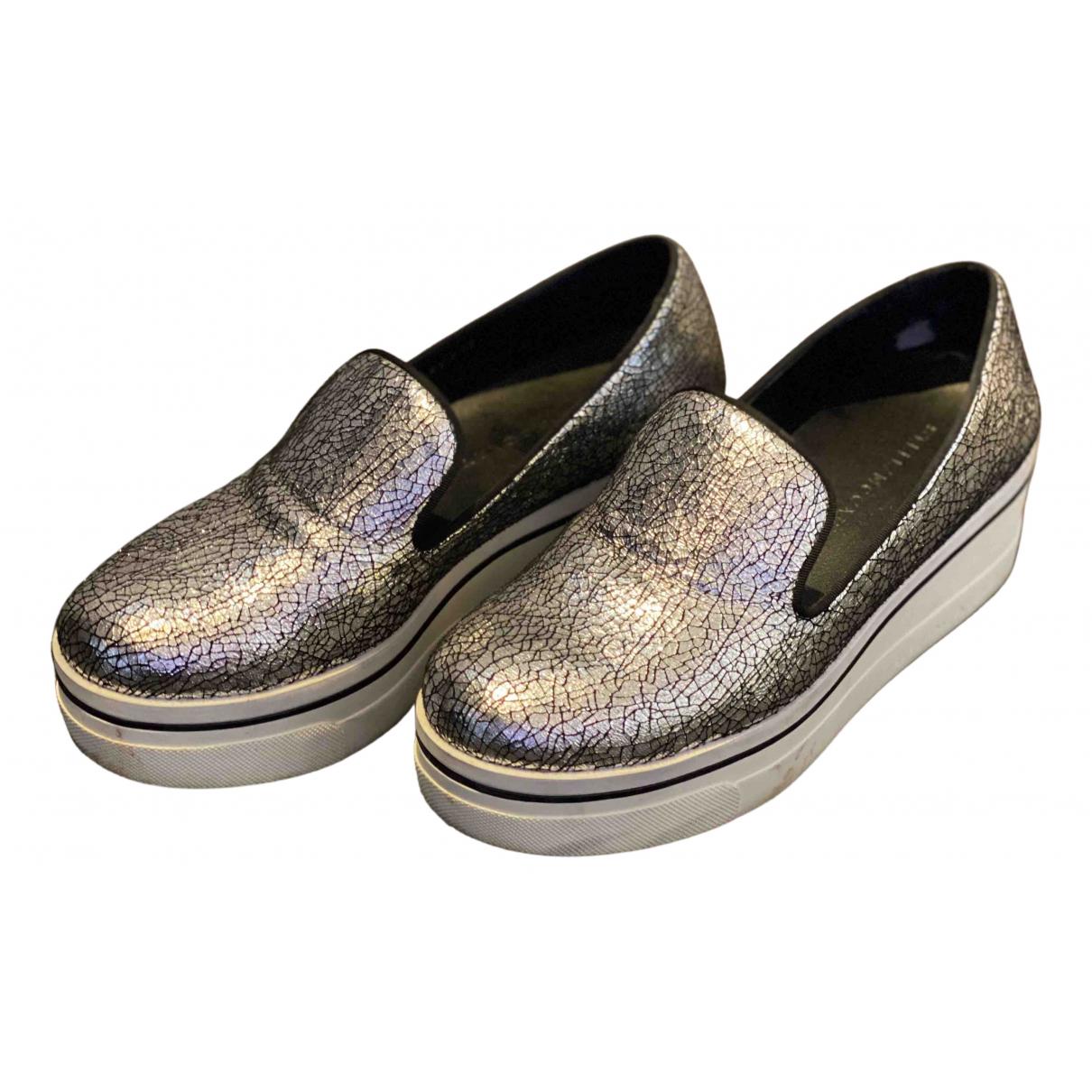 Stella Mccartney Binx Sneakers in  Silber Leinen