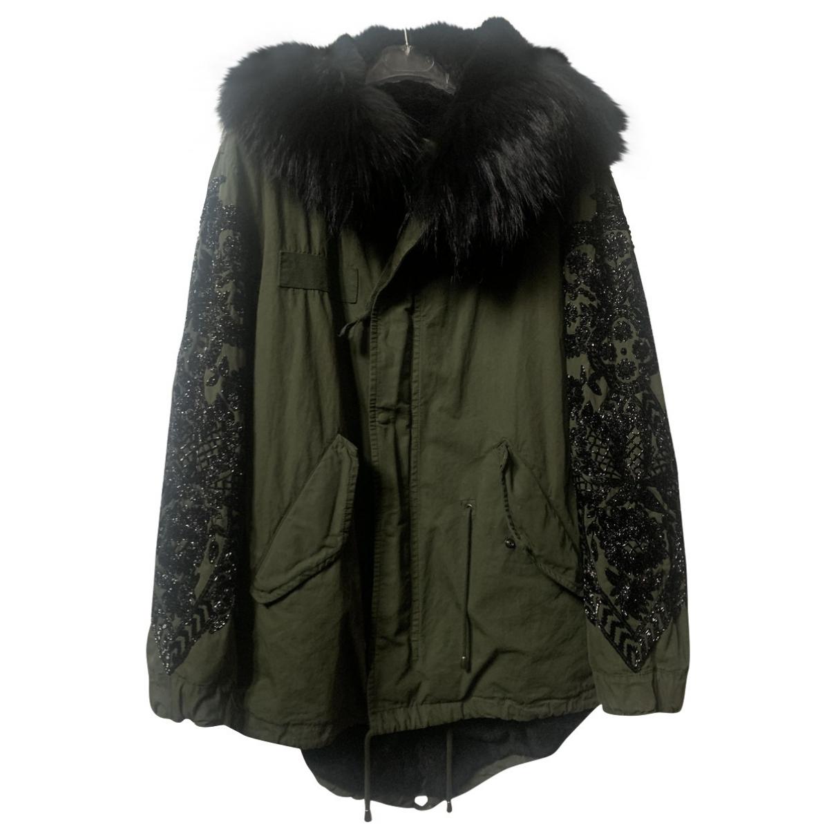 Amen Italy - Manteau   pour femme en coton - kaki