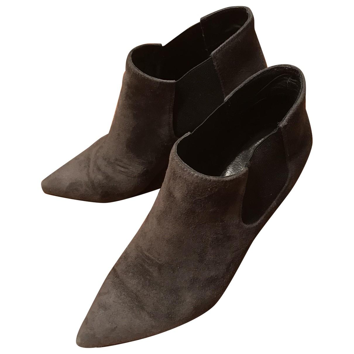 Lola Cruz \N Grey Suede Boots for Women 37 EU
