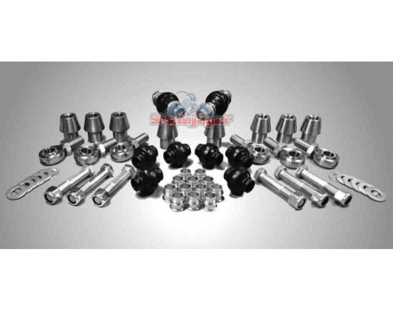 Steinjager J0006006 Rod Ends Set 0.75-16 for 1.750 OD x .250 Ball ID 4HSS-28250-12-12-TT-ZZ 0.75-16 x 0.75