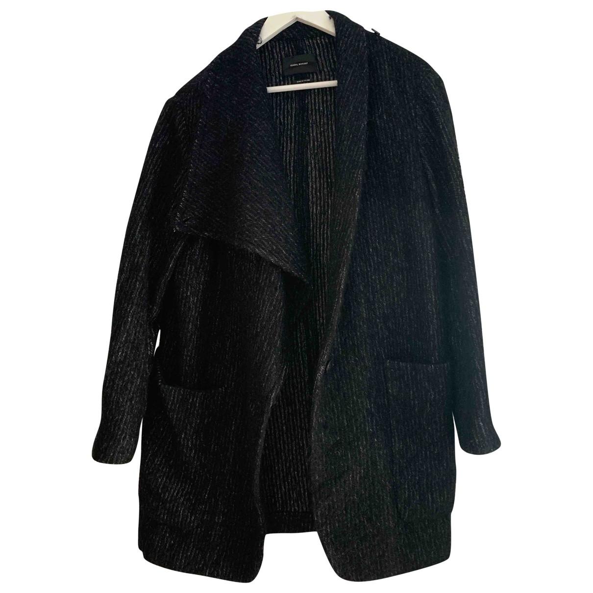 Isabel Marant \N Black Wool coat for Women 38 FR