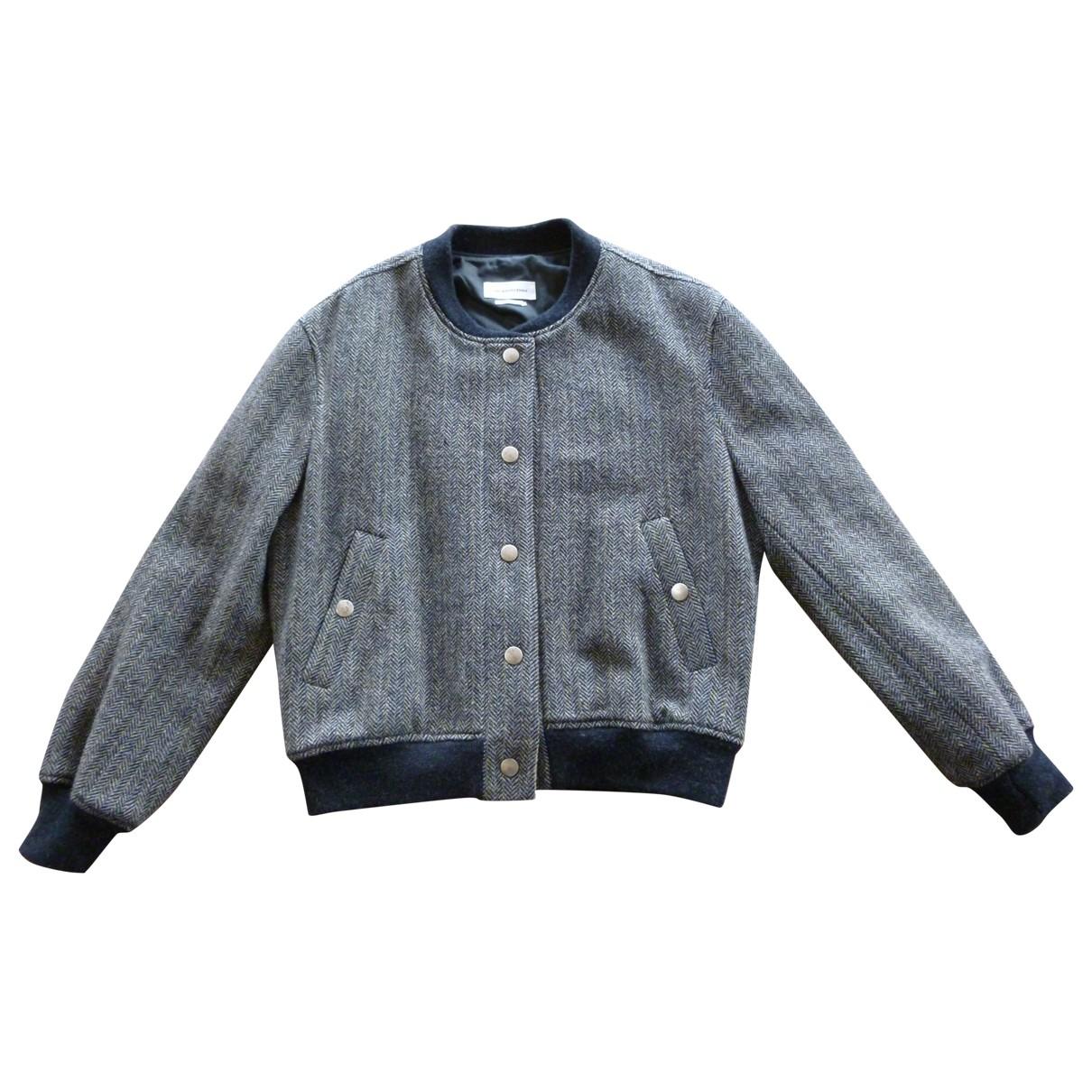 Isabel Marant Etoile \N Lederjacke in  Grau Tweed