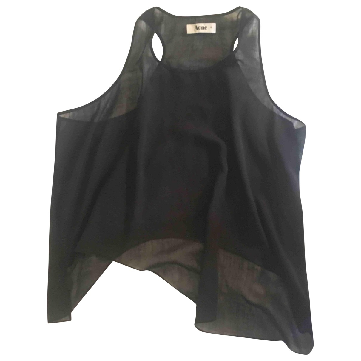 Acne Studios - Top   pour femme en soie - noir