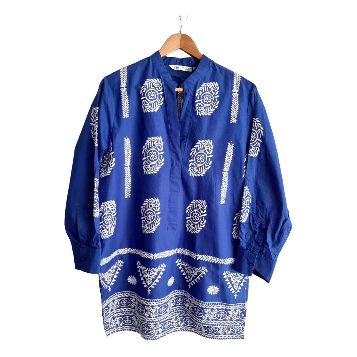 Zara \N Blue Cotton  top for Women M International