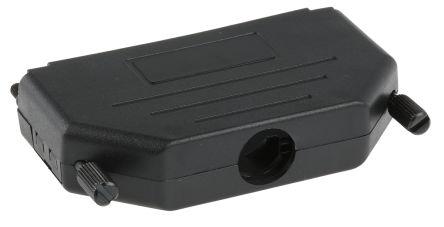 MH Connectors , MHDPPK-SLIM Polyamide D-sub Connector Backshell, 37 Way, Strain Relief, Black (5)