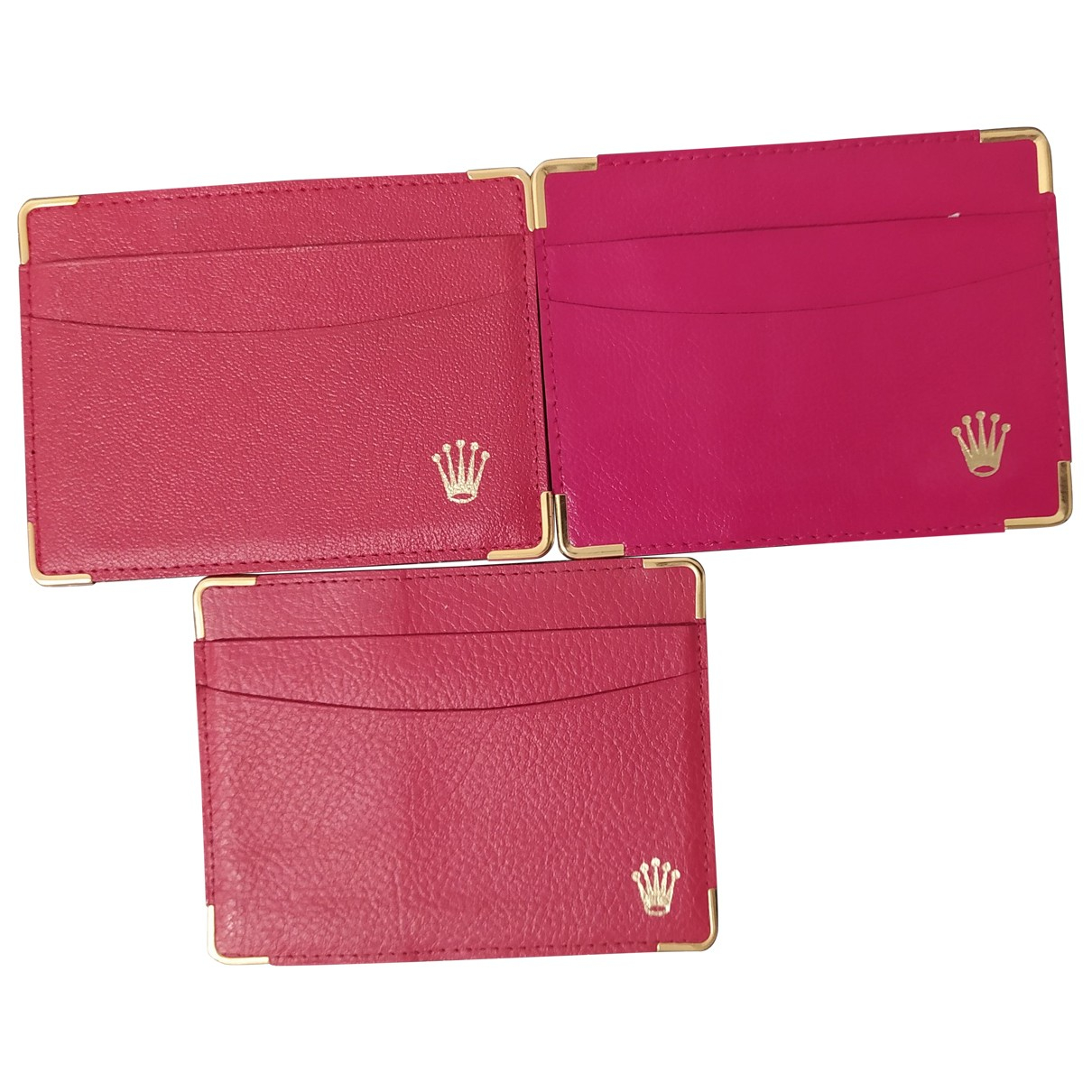 Rolex \N Clutch in  Rot Leder