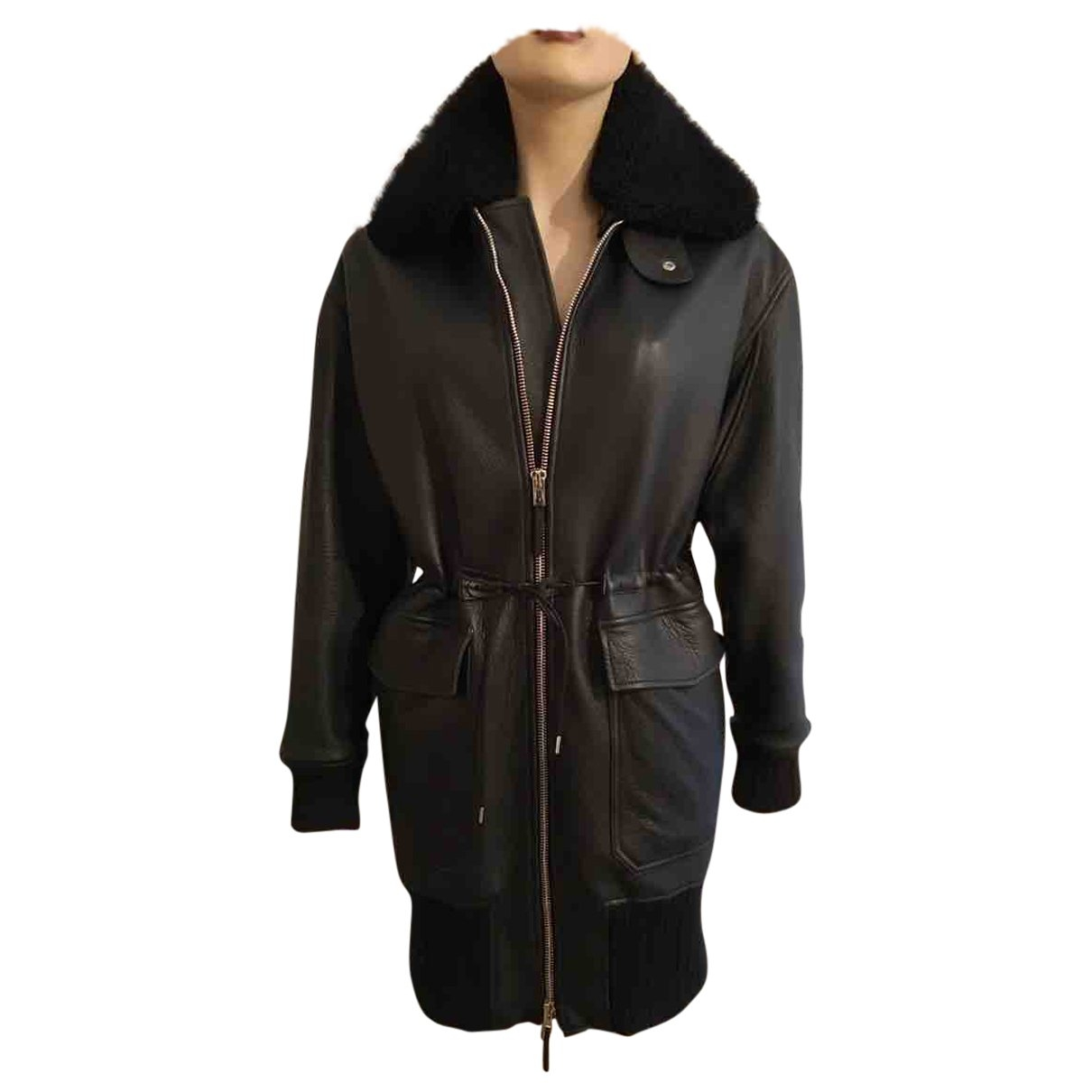 Jean Paul Gaultier \N Black Leather coat for Women 38 FR