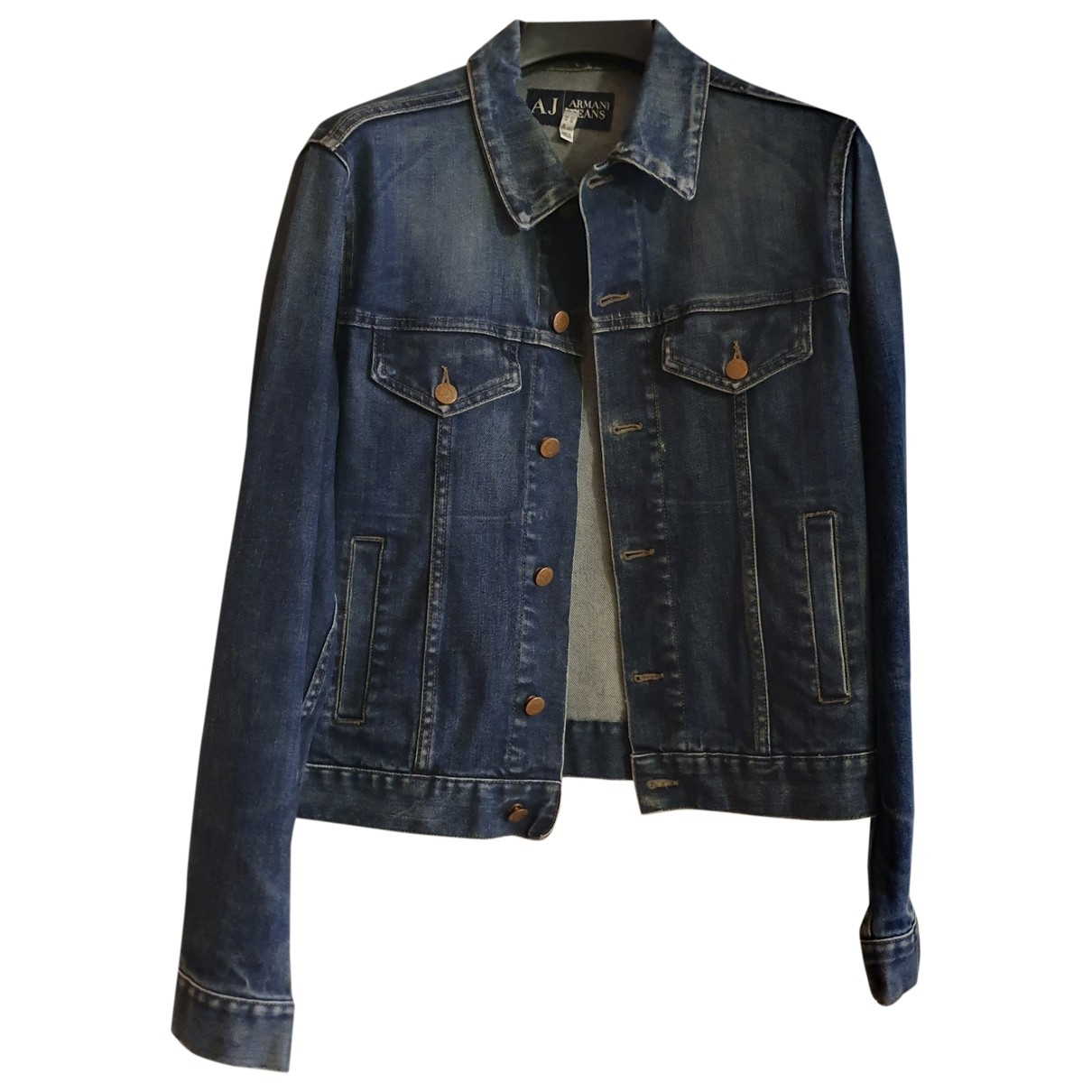 Armani Jeans \N Blue Denim - Jeans jacket  for Men 48 IT