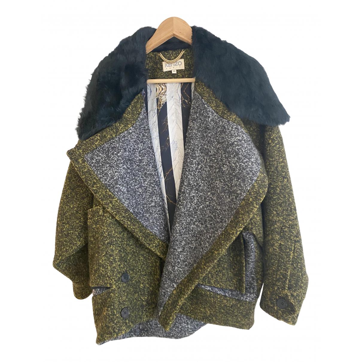 Kenzo - Veste   pour femme en laine - vert