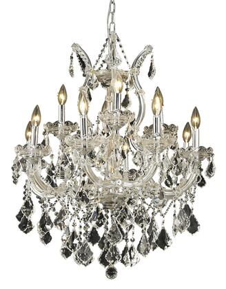 2800D27C/EC 2800 Maria Theresa Collection Hanging Fixture D27in H26in Lt: 8+4+1 Chrome Finish (Elegant Cut