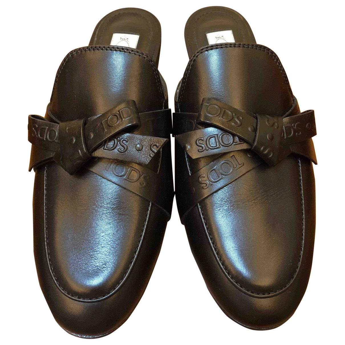 Tods \N Black Leather Sandals for Women 35 EU