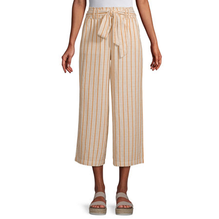 a.n.a Mid Rise Belted Cropped Pants, Xx-large , Yellow