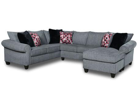 51401-7772-SEC-RCPomona Chaise Sectional  in Reed