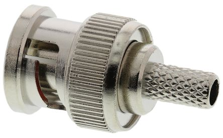 TE Connectivity Straight 50Ω Cable Mount BNC Connector, Plug, Nickel, Crimp Termination, RG141 A/U, RG303/U, RG58 C/U (5)