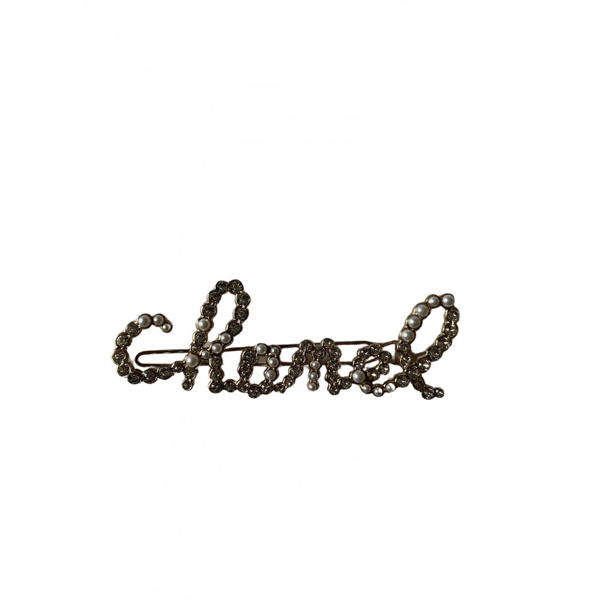 Broche en Metal Plateado Chanel