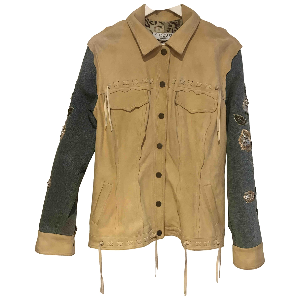 Non Signé / Unsigned \N Multicolour Leather jacket for Women 50-52 IT
