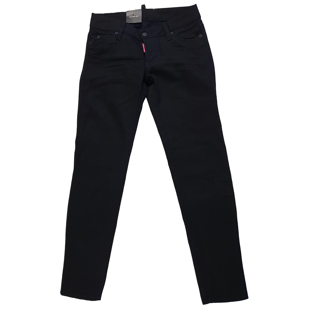 Dsquared2 \N Black Denim - Jeans Jeans for Women 26 US