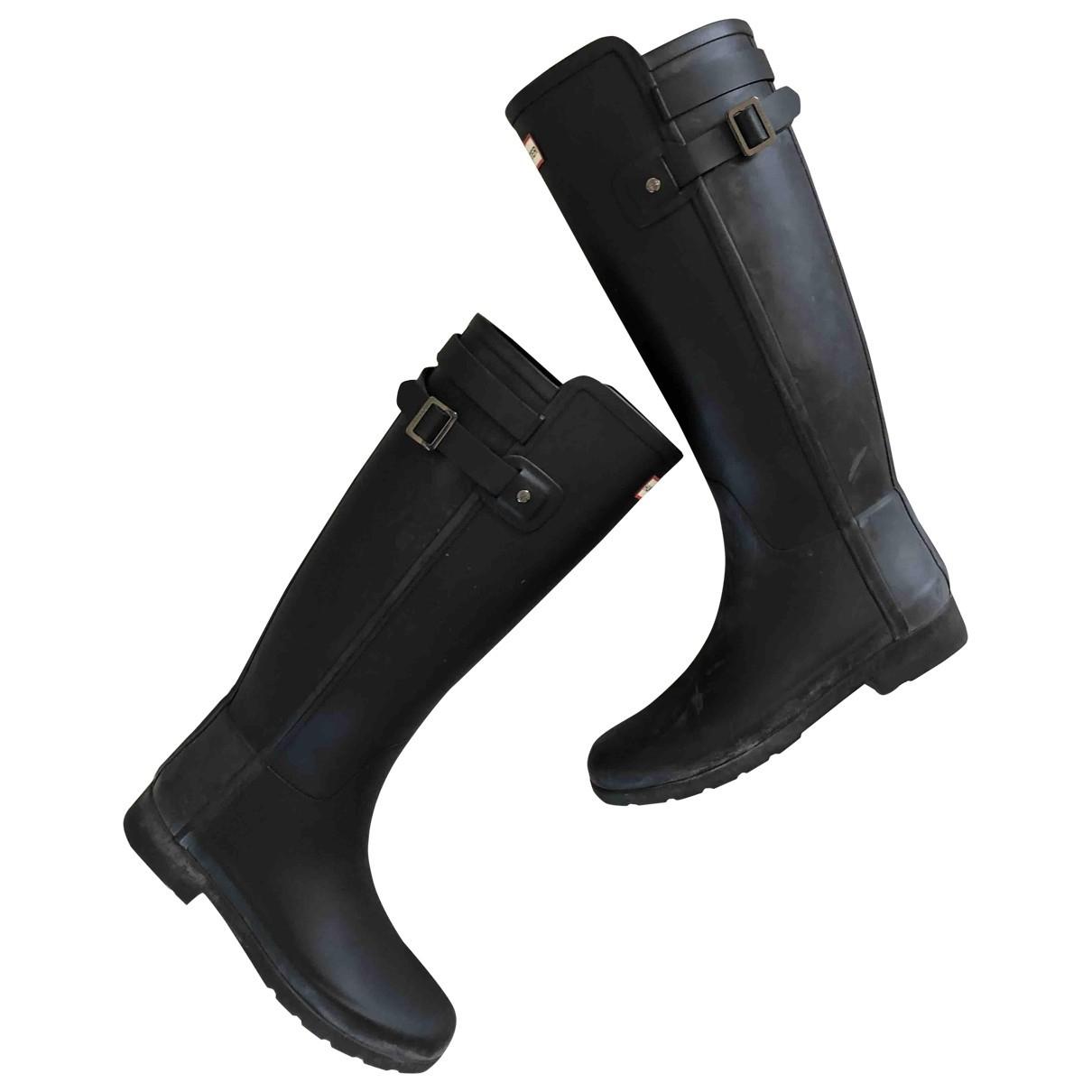 Hunter \N Stiefel in  Schwarz Kunststoff