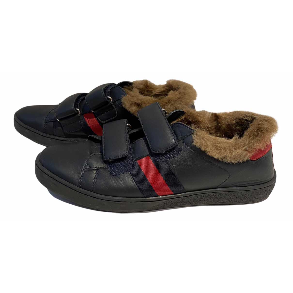 Gucci Ace Blue Leather Trainers for Women 37 EU