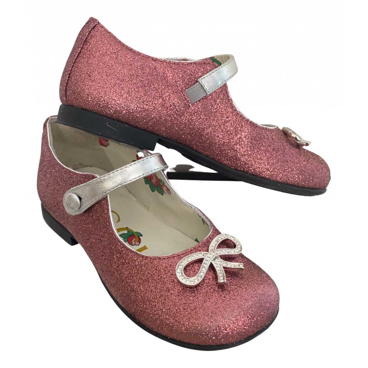 Gucci N Pink Glitter Ballet flats for Kids 25 FR