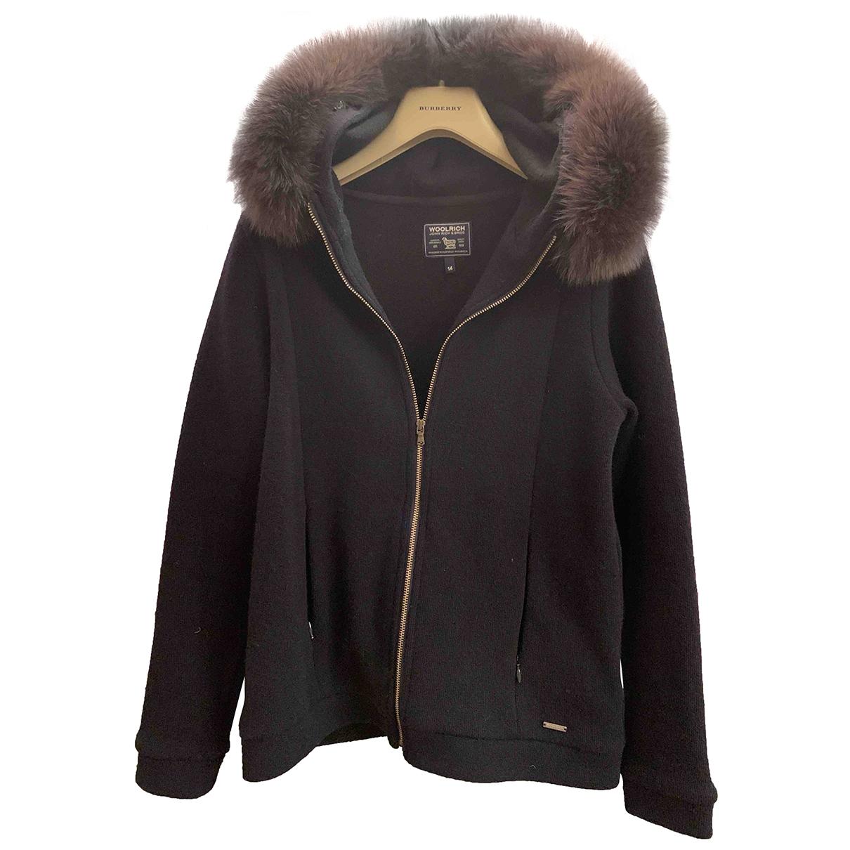 Woolrich - Blousons.Manteaux   pour enfant en laine - marine