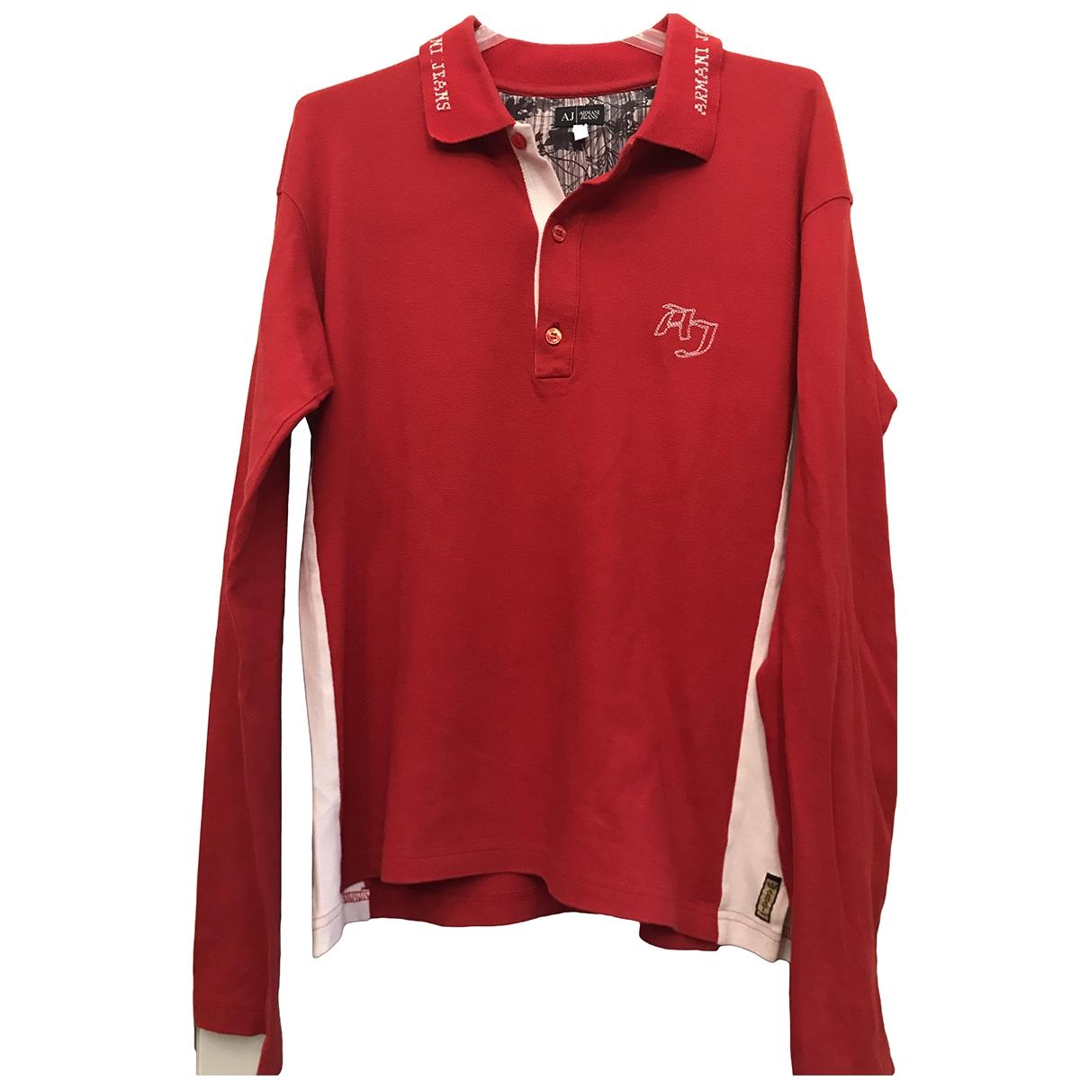 Armani Jean - Polos   pour homme en coton - rouge