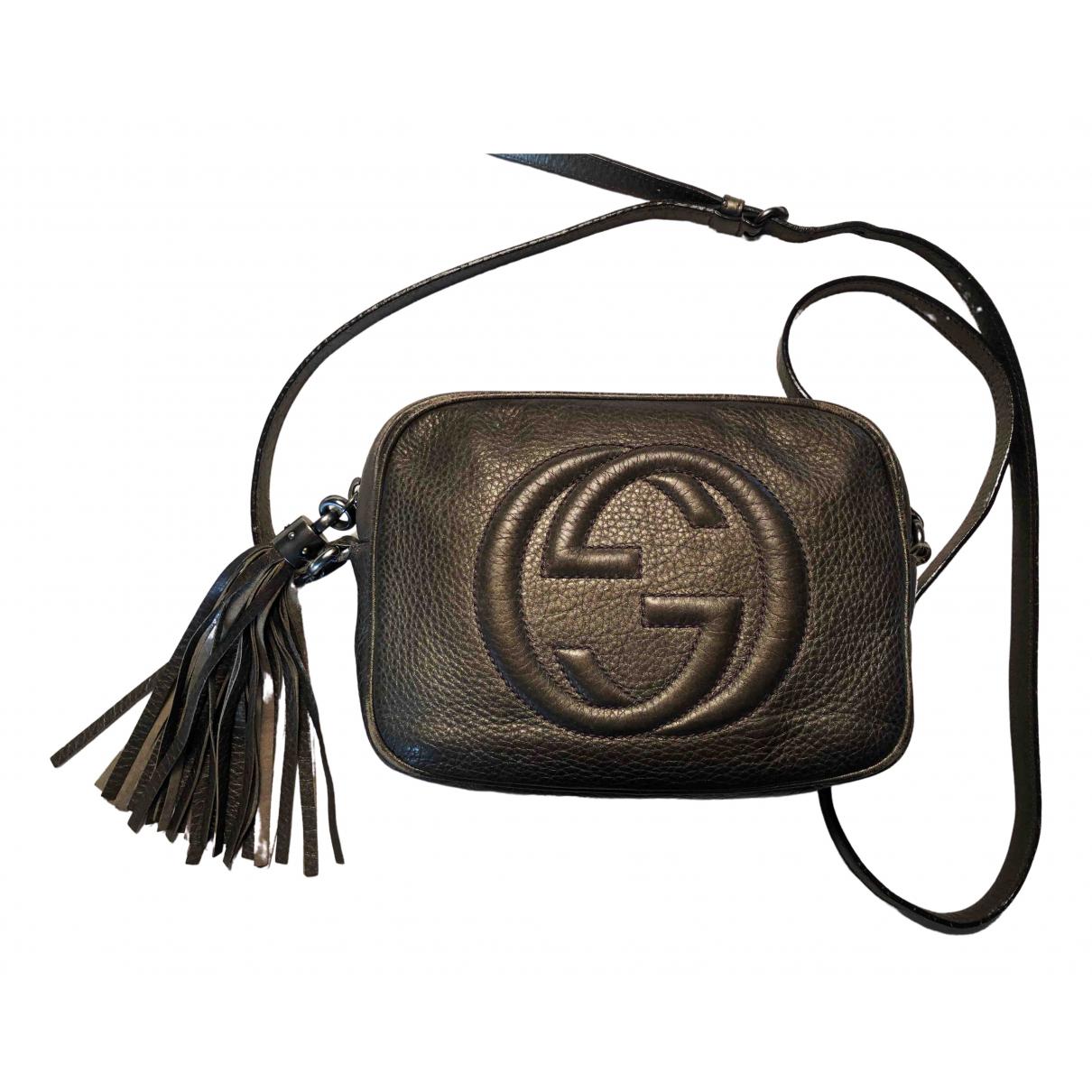 Gucci - Sac a main Soho pour femme en cuir - gris