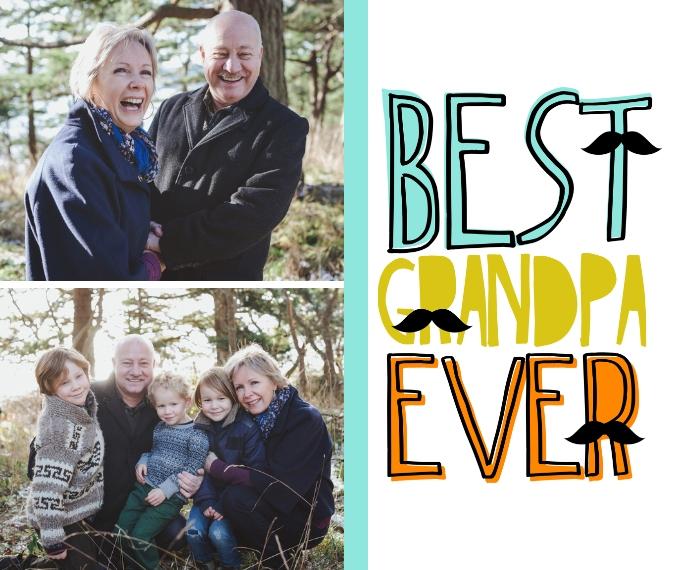 Family + Friends Plush Fleece Photo Blanket, 50x60, Gift -Grandpa Stache