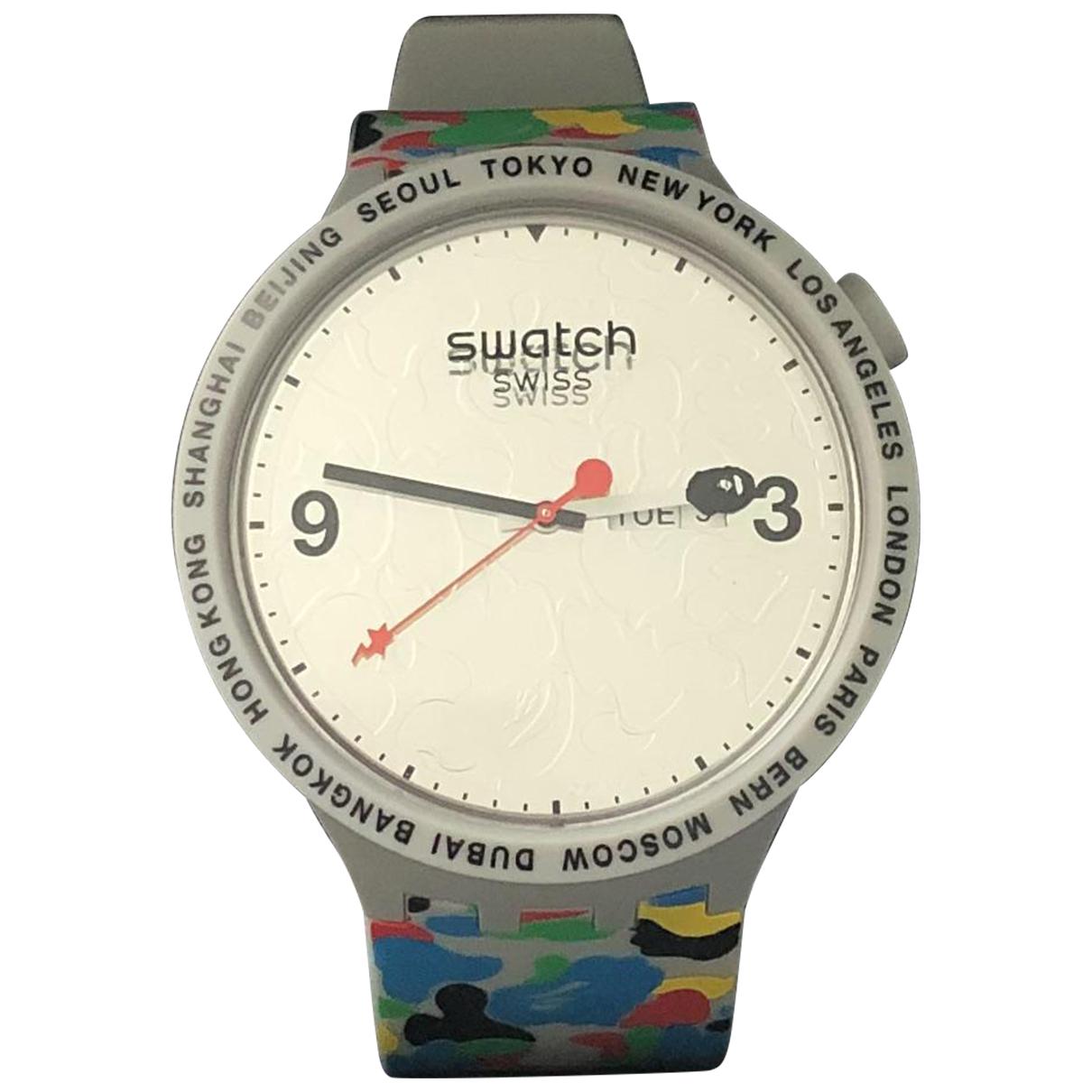 Swatch - Montre   pour homme en autre - gris